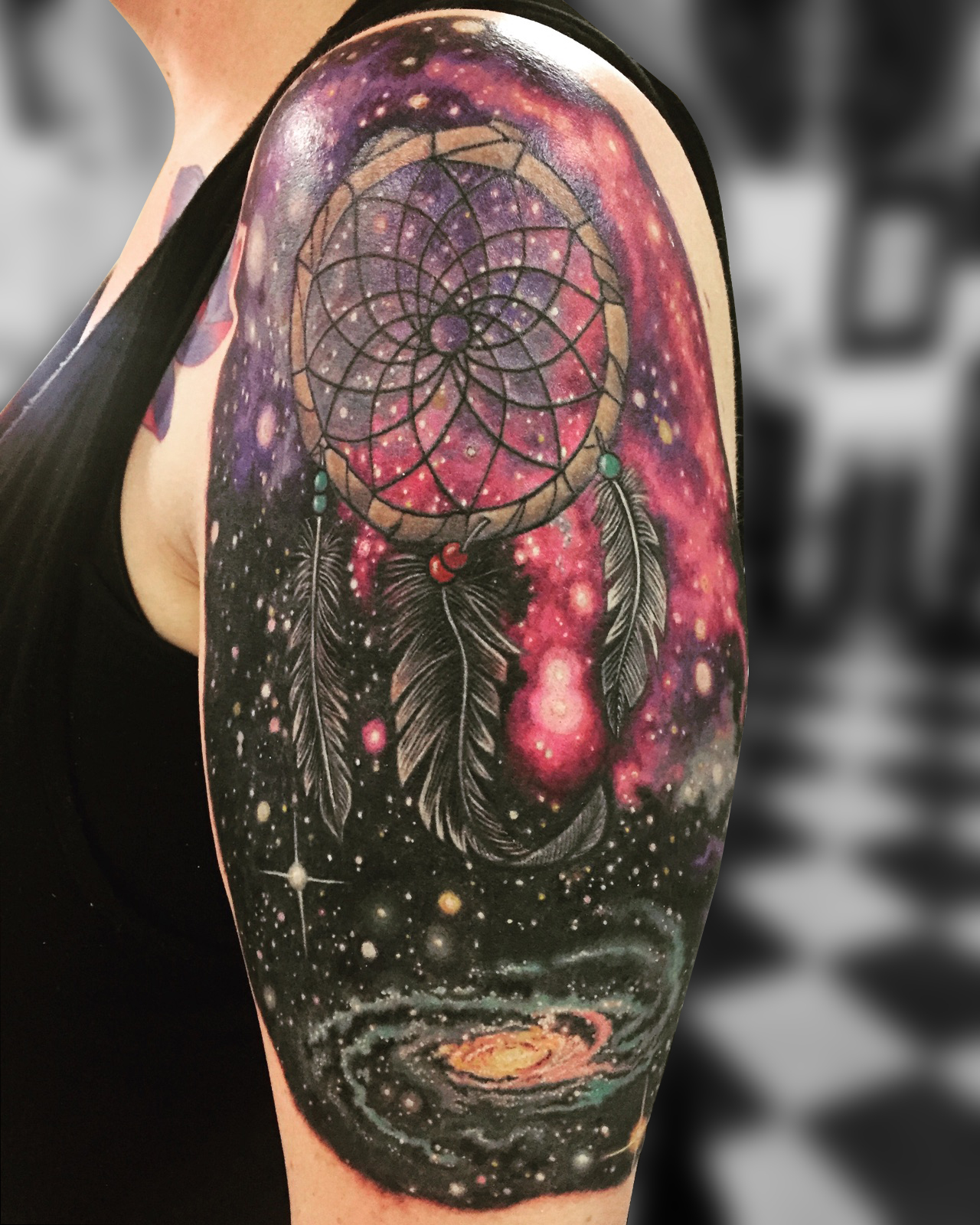 Q Tattoo in Huntington Beach - Karel Beck - the dreamcatcher