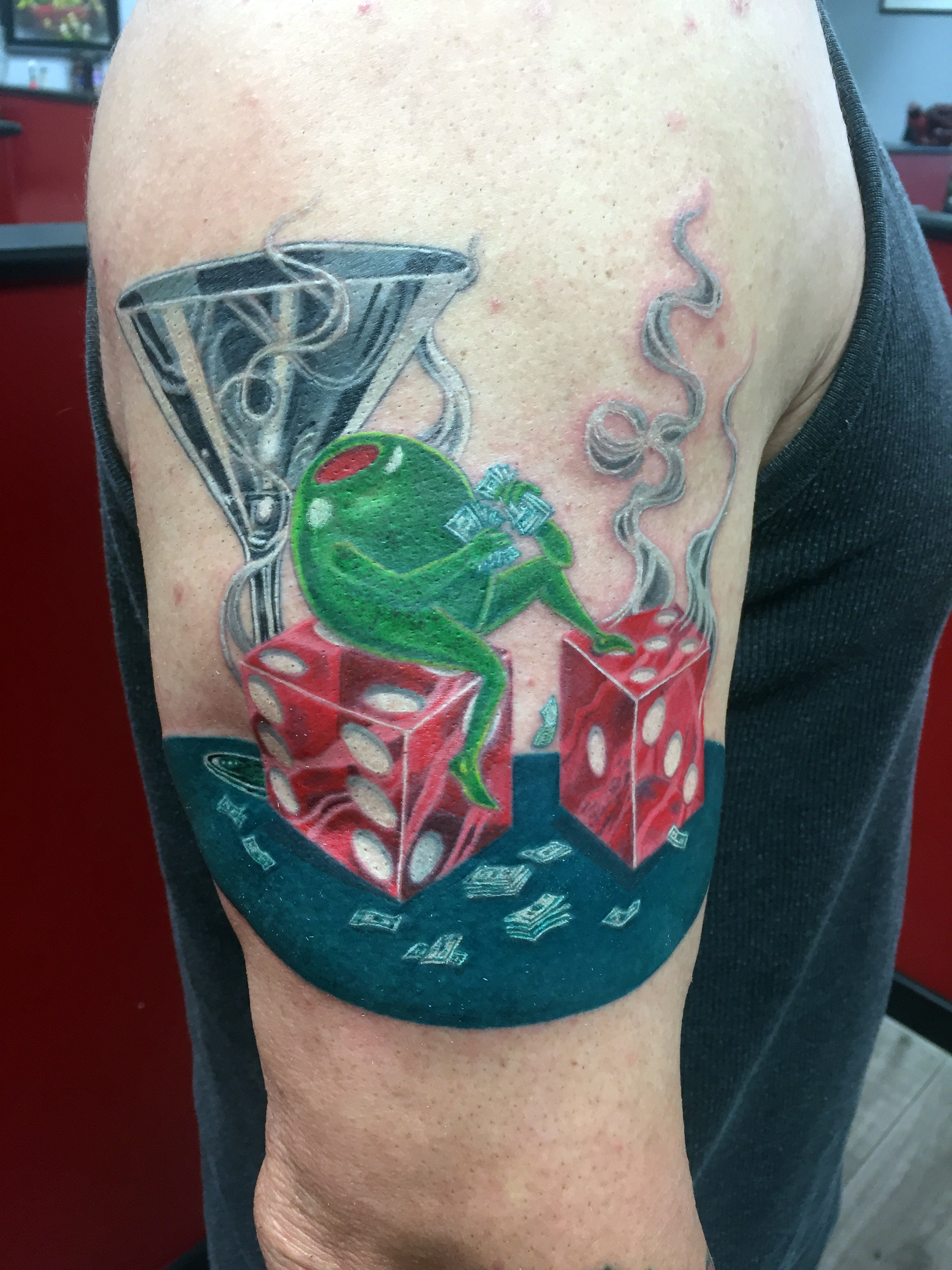Q Tattoo in Huntington Beach - Karel Beck - Martini