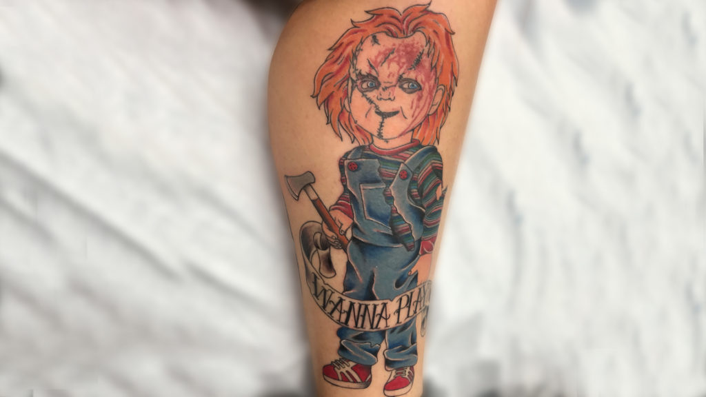 Q Tattoo in Huntington Beach - Sara Delara - Chucky wanna play?