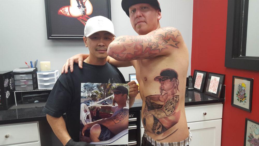 Q Tattoo in Huntington Beach - Quan - realism f word industries