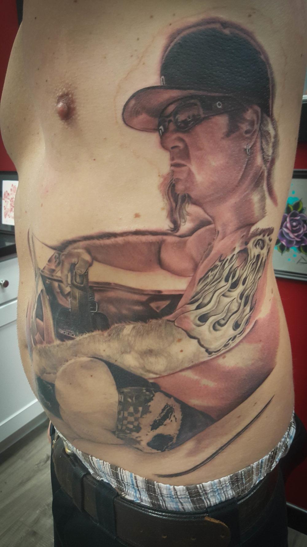 Q Tattoo in Huntington Beach - Quan - realism body tattoo