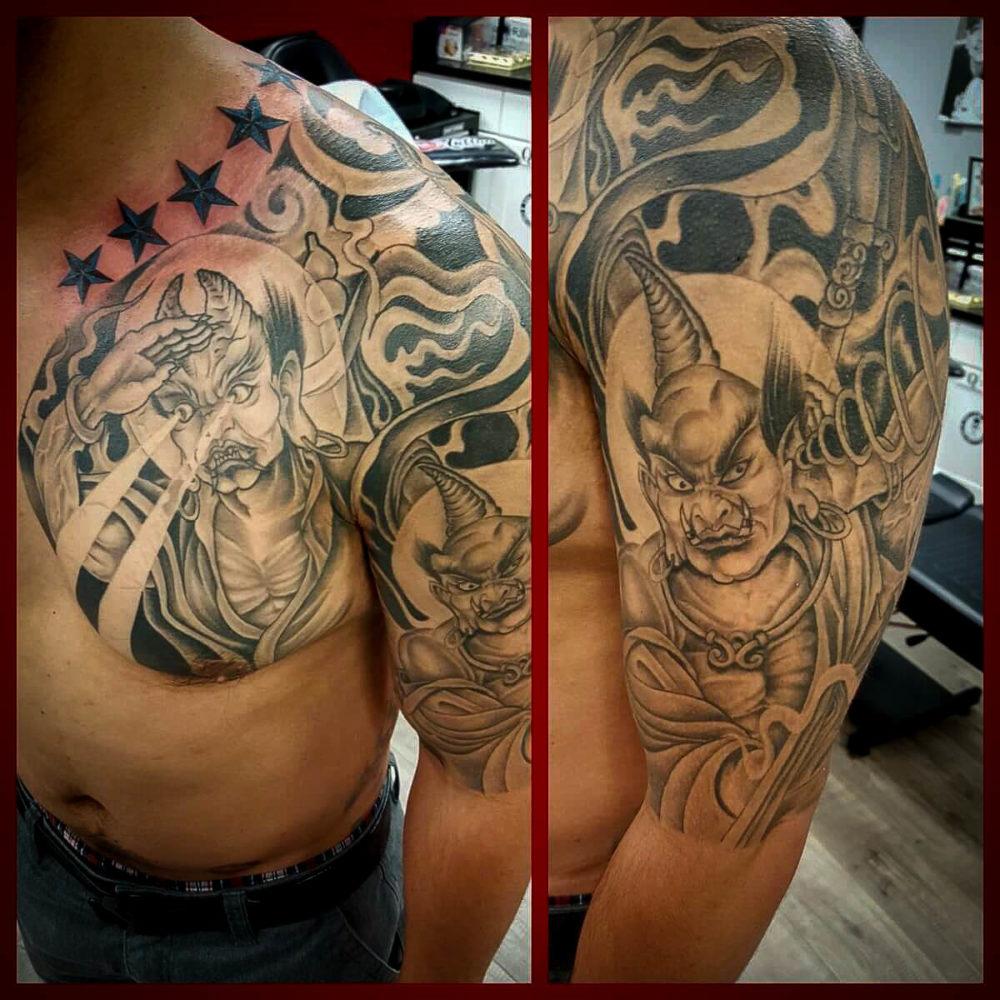 Q Tattoo in Huntington Beach - Quan - Asian myth