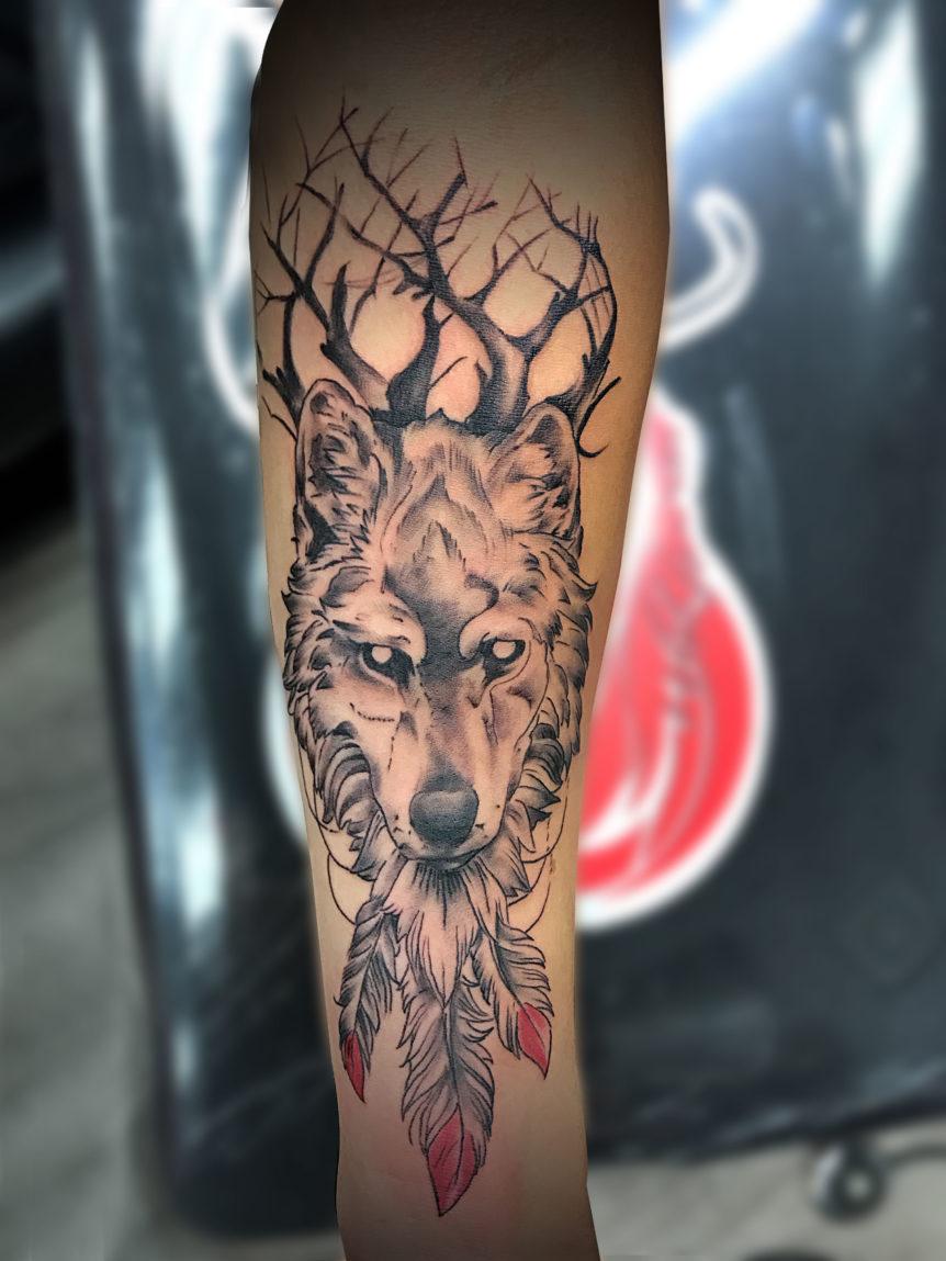 Q Tattoo in Huntington Beach - Quan - spirit animal