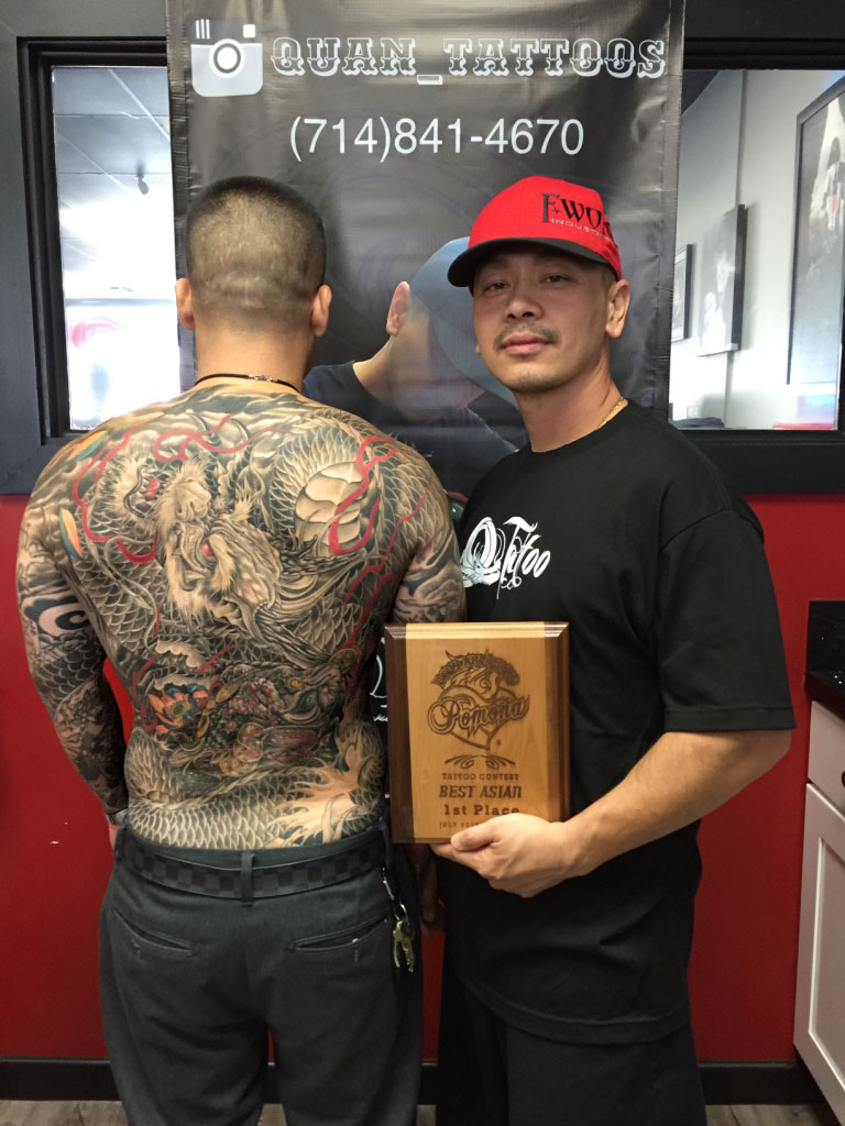 Q Tattoo in Huntington Beach - Quan - award for best asian